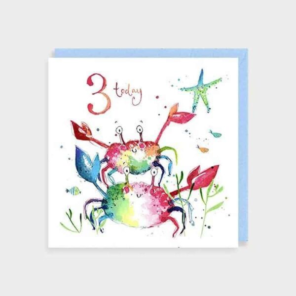 3 Today Crab Birthday Card