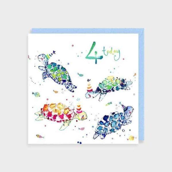 4 Today Turtles Greetings Card