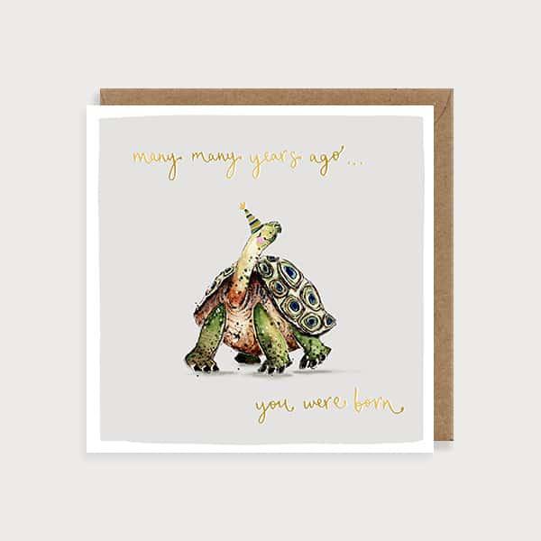80 Years Young Tortoise Birthday Card