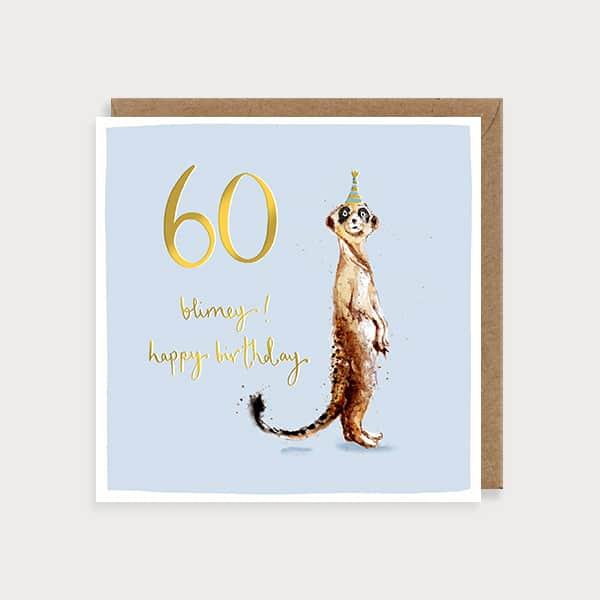 Blimey 60 Birthday Card