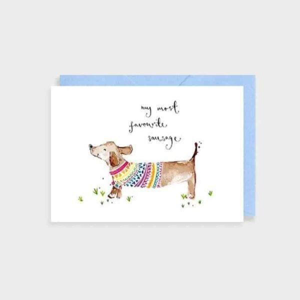 favourite sausage card