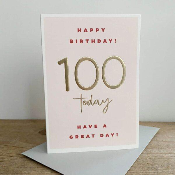 100 Today Birthday Card