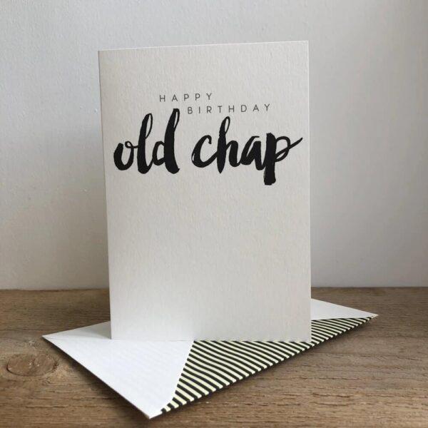 old chap birthday card