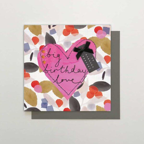 big birthday love card