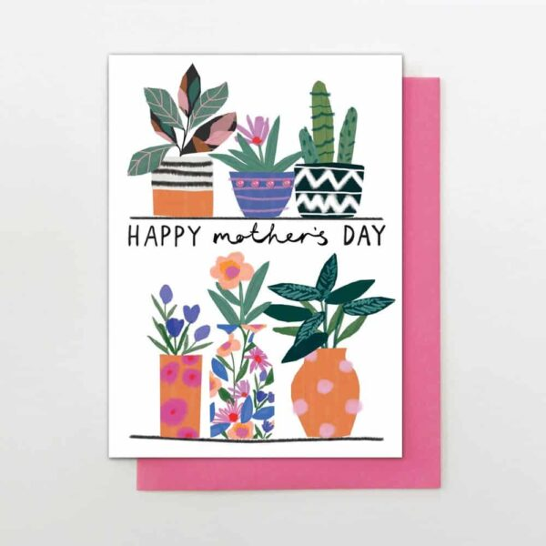 potted plant mother's day card