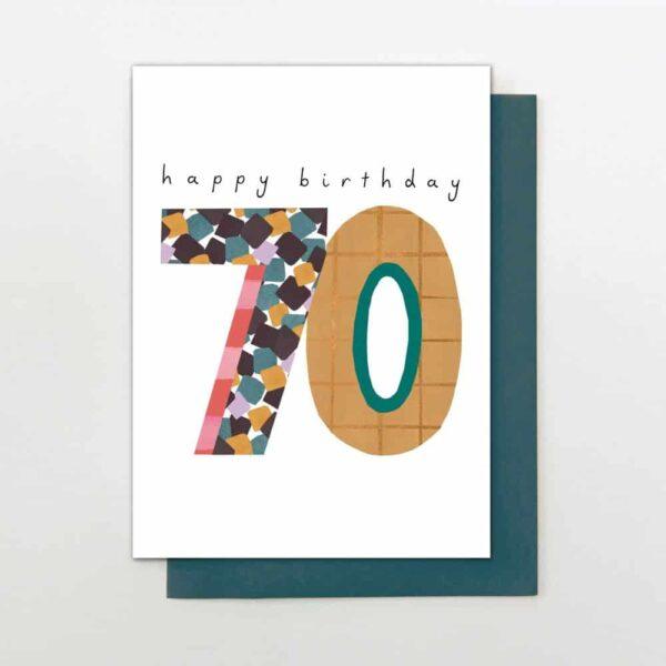 Hello 70 Birthday Card