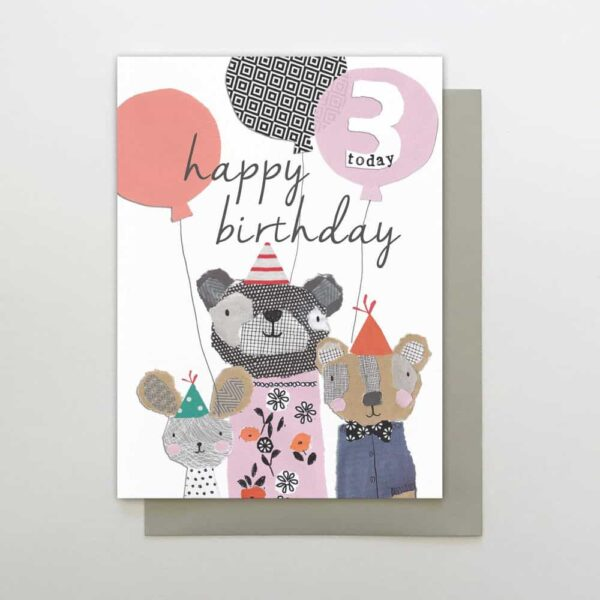 Bears 3 Today Birthday Card