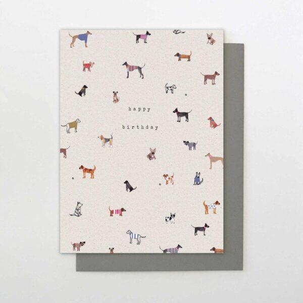 dogs happy birthday card