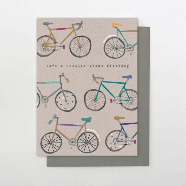 wheelie birthday card