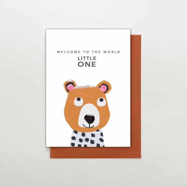 welcome to the world bear card