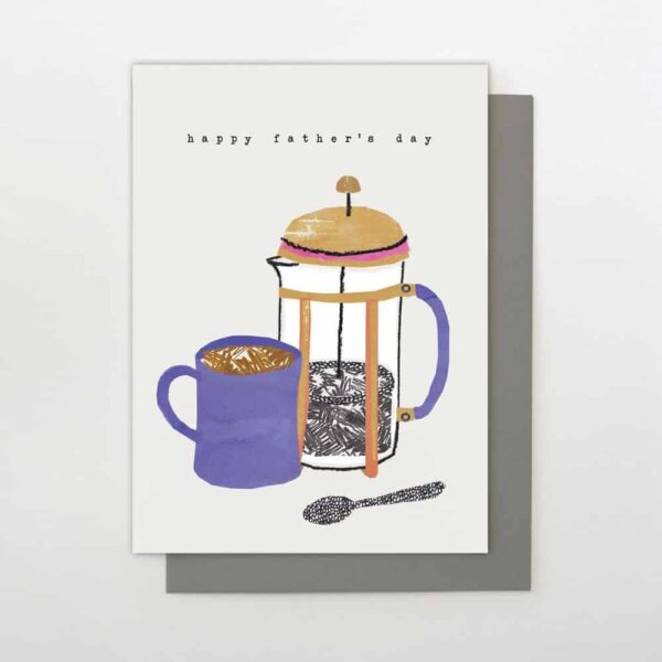 Cafetière Father's Day Greetings Card