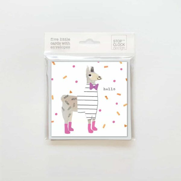 Little Llama Hello Note Cards Pack
