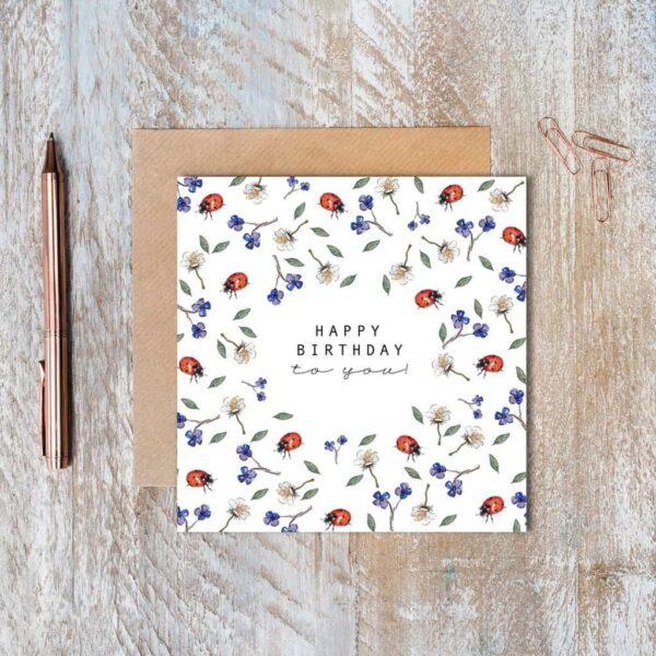 ladybird pure birthday card