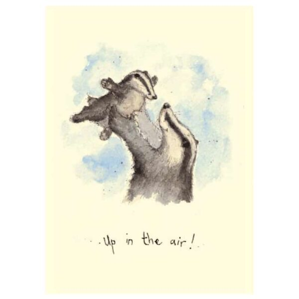 up in the air card