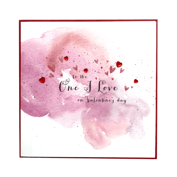 To The One I Love On Valentine's Day Jewel Card