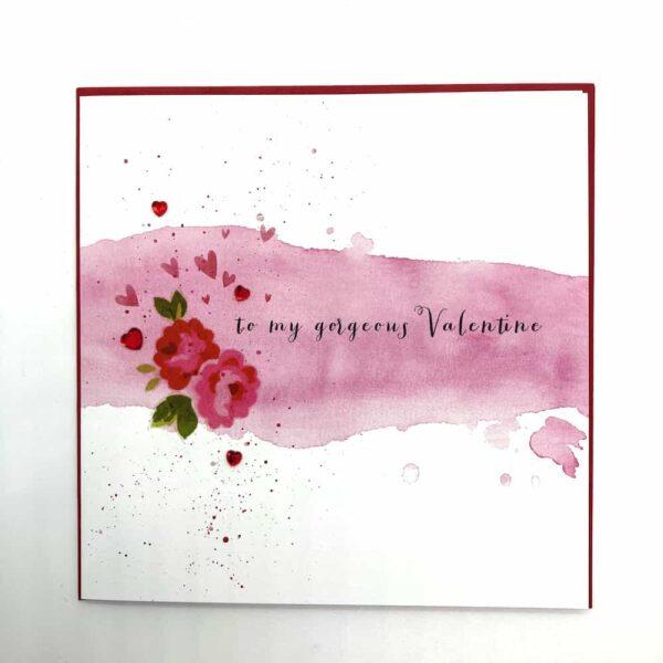 To My Gorgeous Valentine Jewel Card