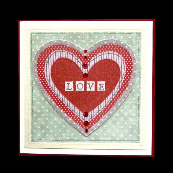 Love Textured Valentine's Card