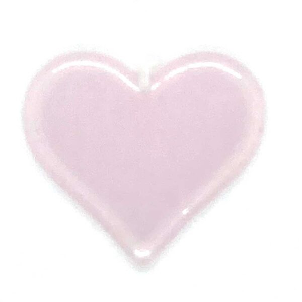 small pink glass heart