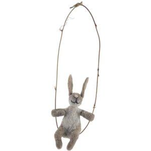 felt rabbit on a swing