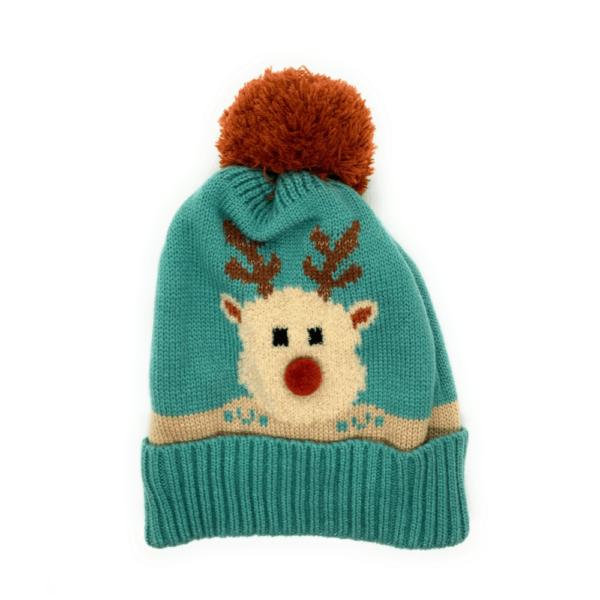 ice pompom hat