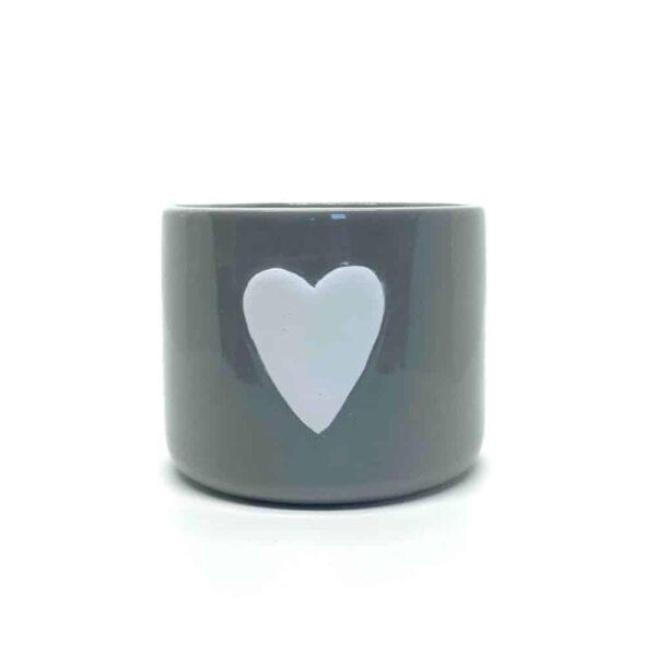 medium heart ceramic pot
