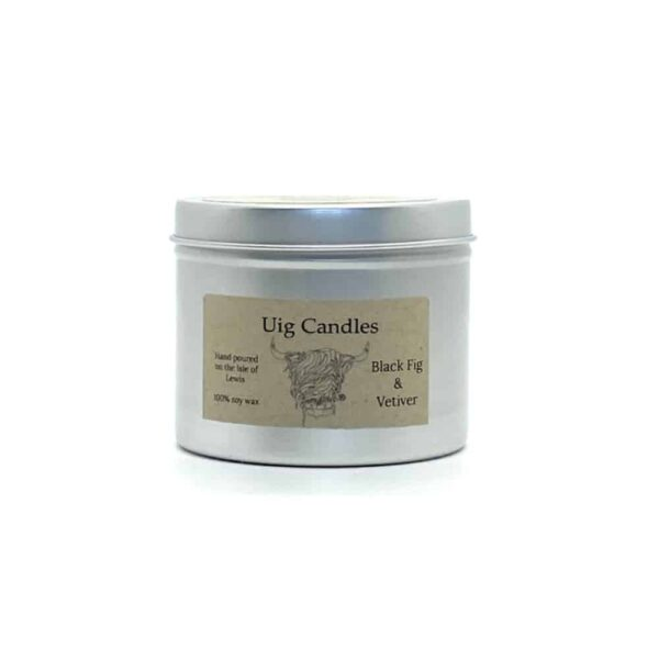 Black Fig And Vetiver Candle In A Tin