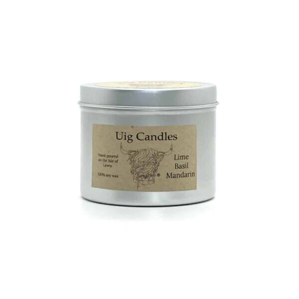 Lime, Basil And Mandarin Candle In A Tin