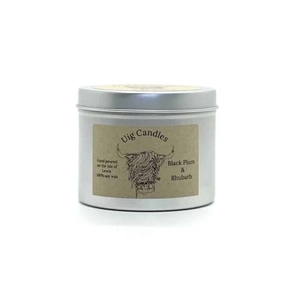 Black Plum And Rhubarb Candle In A Tin