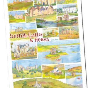 scottish castles tea towel