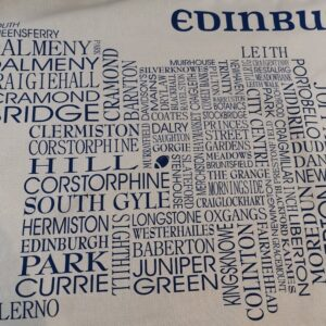 Edinburgh Word Map Tea Towel