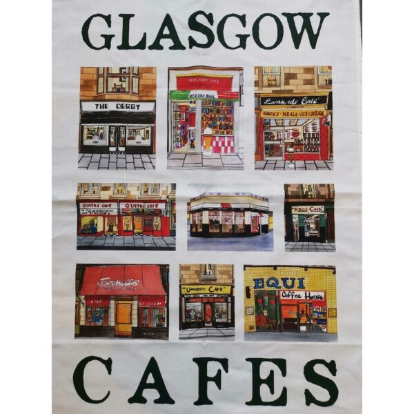 Glasgow Cafes Tea Towel