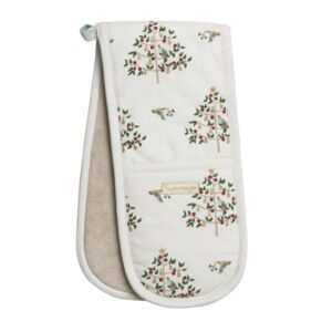 Partridge In A Pear Tree Double Oven Gloves
