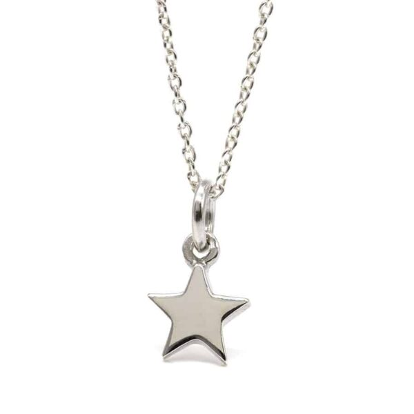 Tiny Star Sterling Silver Necklace