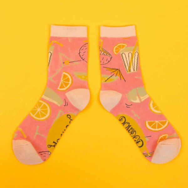 Cocktails Ankle Socks