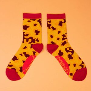 Leopard Print Ankle Socks