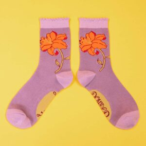 Lilac Lily Ankle Socks