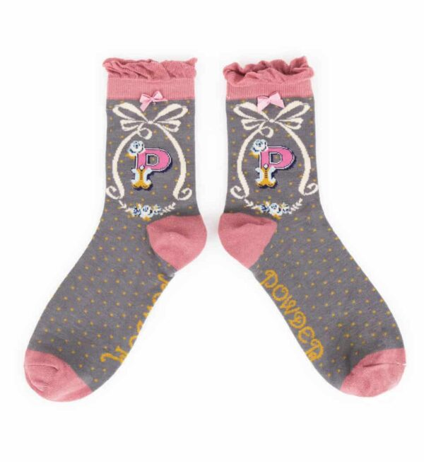 alphabet socks P