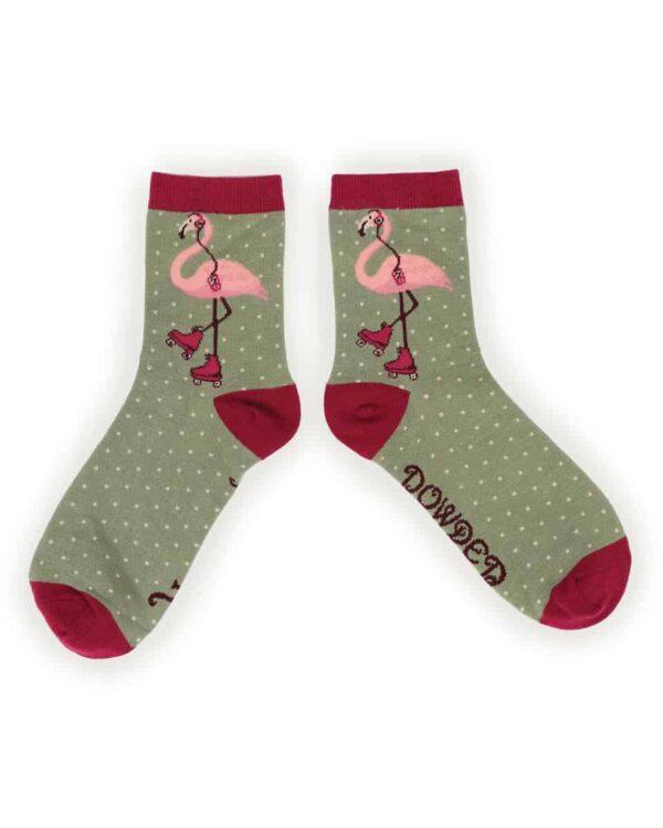 Skating Flamingo Ankle Socks