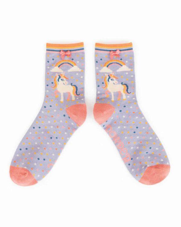 Unicorn Bamboo Ankle Socks