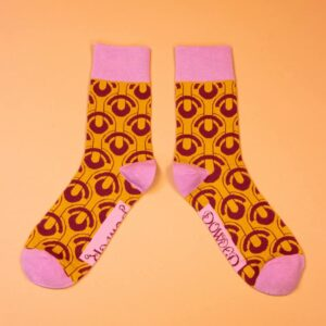 Men's Art Deco Ochre Socks