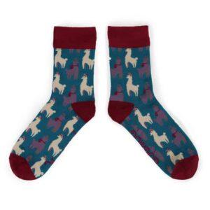 blue llama socks