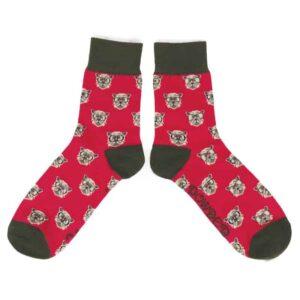 men's fuchsia westie socks