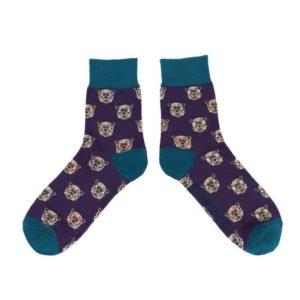 purple westie socks