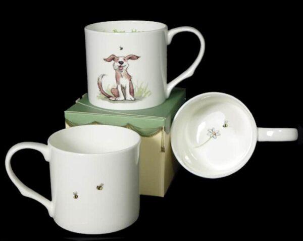 bee happy mug inside