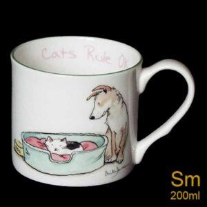cats rule mug