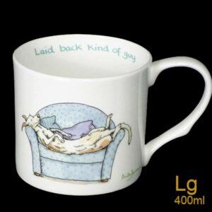 laid back guy mug