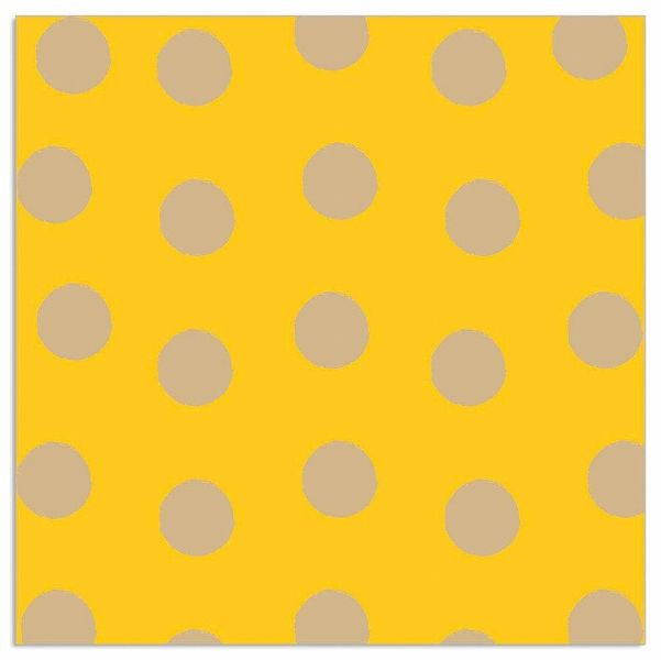Yellow And Gold Spot Napkins