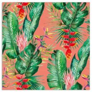Coral Tropical Jungle Napkins
