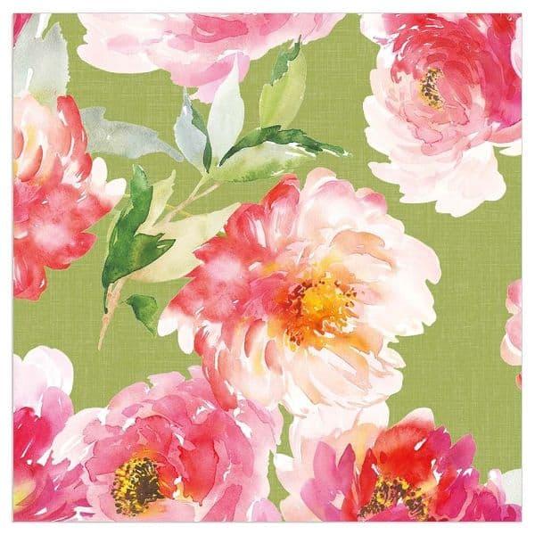 Red Floral Napkins