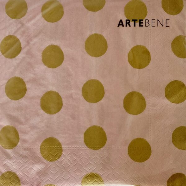 Pale Pink And Gold Spot Napkins
